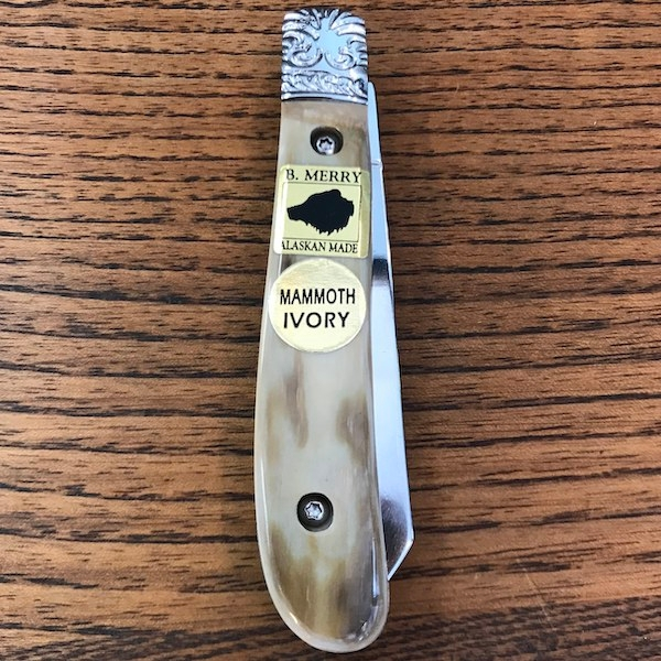 Pocket Knife with Mammoth Ivory Handle