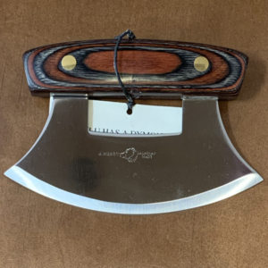 Ulu Knife with Dymond Wood Handle and Base