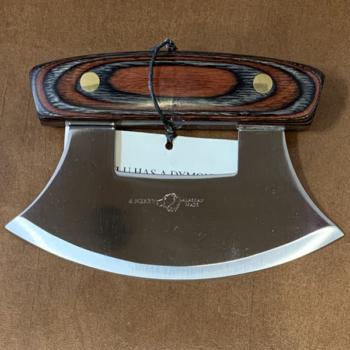 Ulu Knife with Dymond Wood Handle and Base