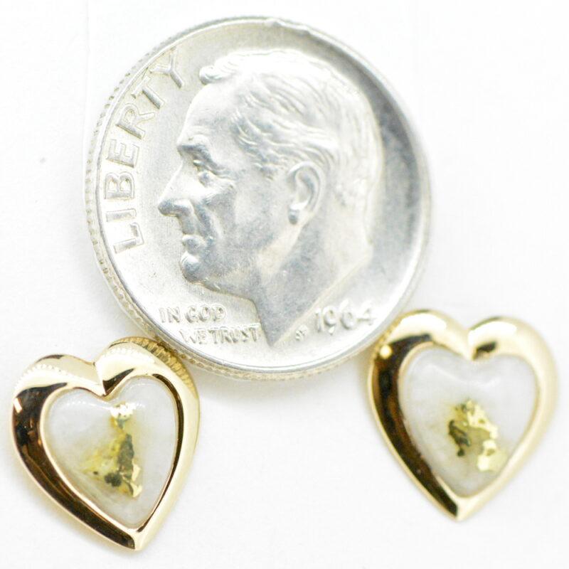 Gold Quartz Post Earrings