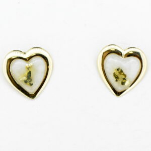 Gold Quartz Post Earrings