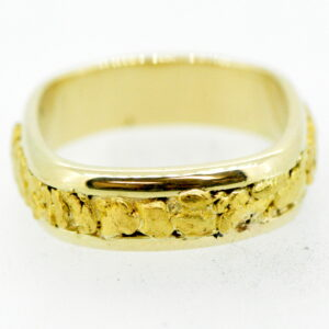 Men's Gold Nugget Ring