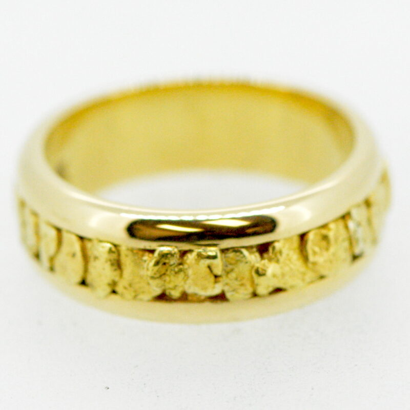 Men's Gold Nugget Ring