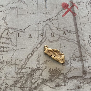 Certified Natural Alaskan Gold Nugget 2.5 DWT