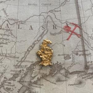 Certified Natural Alaskan Gold Nugget 2.7 DWT