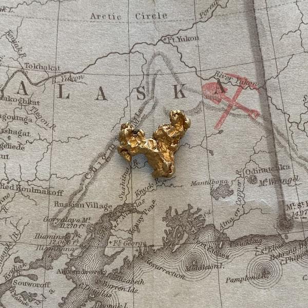 Certified Natural Alaskan Gold Nugget 3.3 DWT