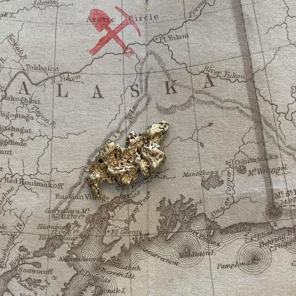 Certified Natural Alaskan Gold Nugget 3.8 DWT