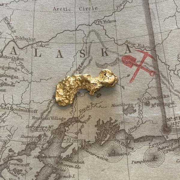 Certified Natural Alaskan Gold Nugget 4.5 DWT