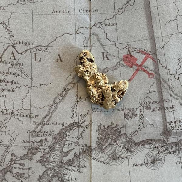 Certified Natural Alaskan Gold Nugget 6.2 DWT